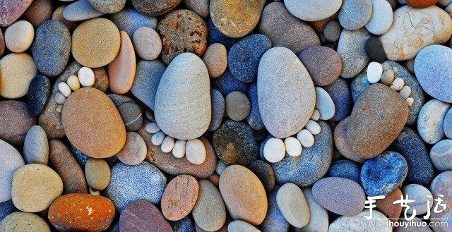 石头简单diy的可爱脚丫