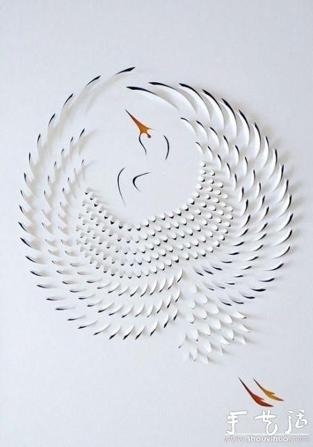 纸艺大全 剪纸教程 剪纸图案  鹤纸雕动物纸雕 分享到:         纸艺