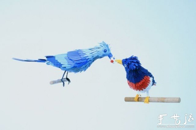 小鳥主題剪紙作品