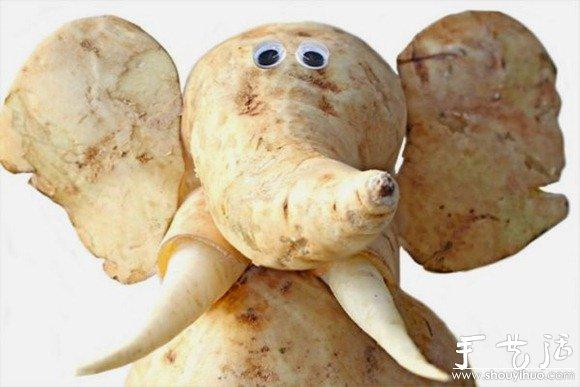 蔬菜水果手工diy的动物