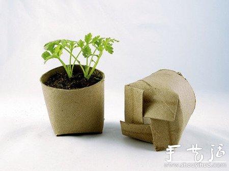 家庭DIY自制可降解的花盆