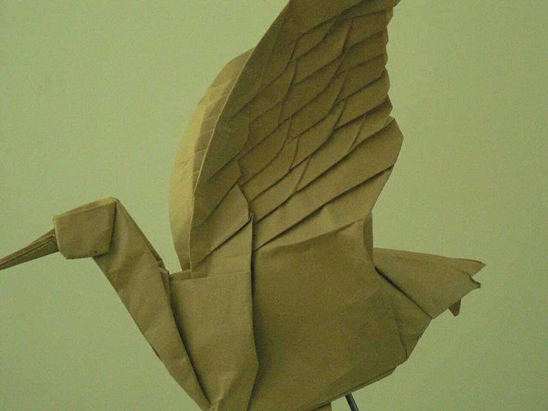 """超逼真的""""鹤""""手工折纸作品"""