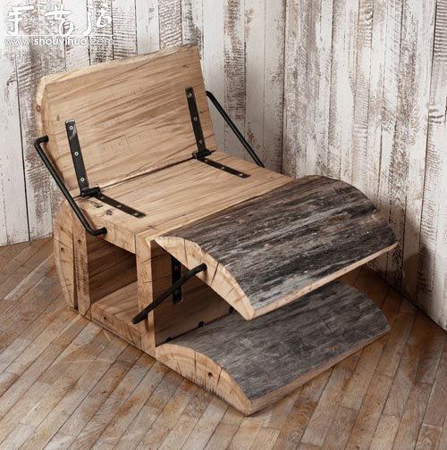 废木料DIY折叠座椅 -  www.shouyihuo.com