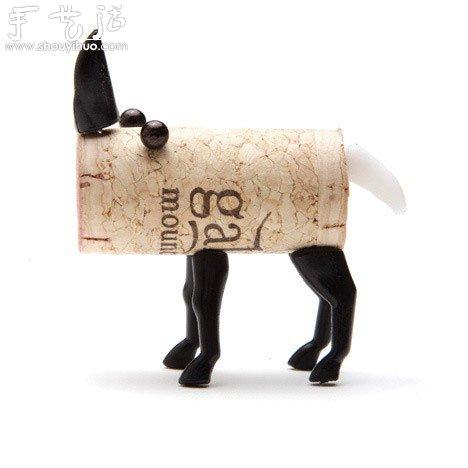 废弃红酒瓶盖手工diy创意小动物(4)