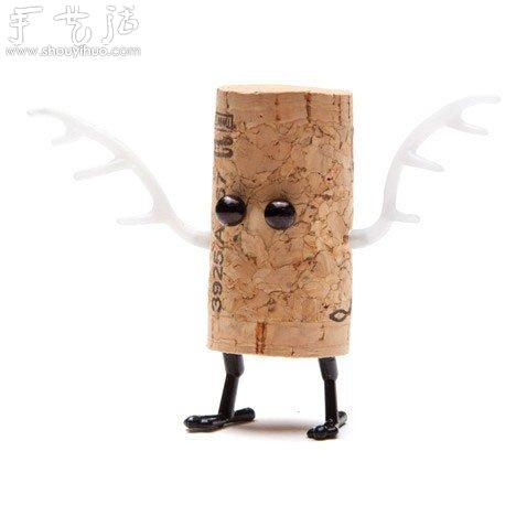 废弃红酒瓶盖手工diy创意小动物(3)