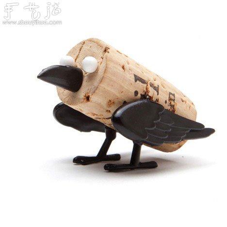 废弃红酒瓶盖手工diy创意小动物(2)