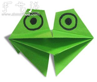 纸艺大全 折纸大全 折纸动物  折纸玩具青蛙动物折纸 分享到