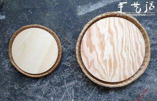 圆木块手工制作