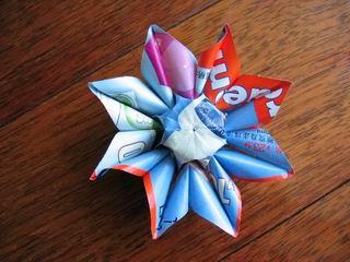 太阳花的手工折纸方法