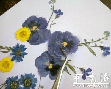 小制作 创意手工 创意diy  在这一步,你将开始粘花,先从底层的花朵