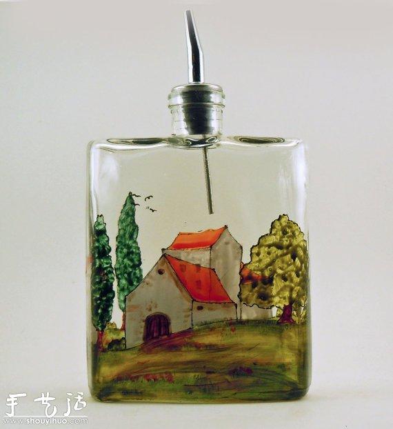 我想在玻璃瓶上画画 应该用什么颜料?图片