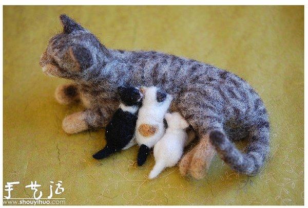 羊毛毡手工制作小动物 -  www.shouyihuo.com