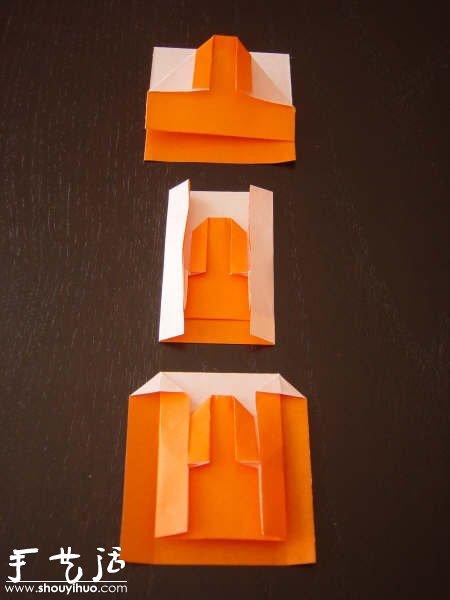 日式餐巾摺紙方法