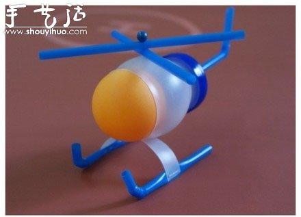 废弃塑料瓶手工制作直升飞机的方法