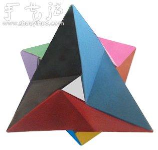 立体四面三角形折纸方法
