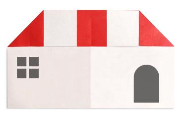 红顶房子折纸教程 - 手艺活-diy手工制作