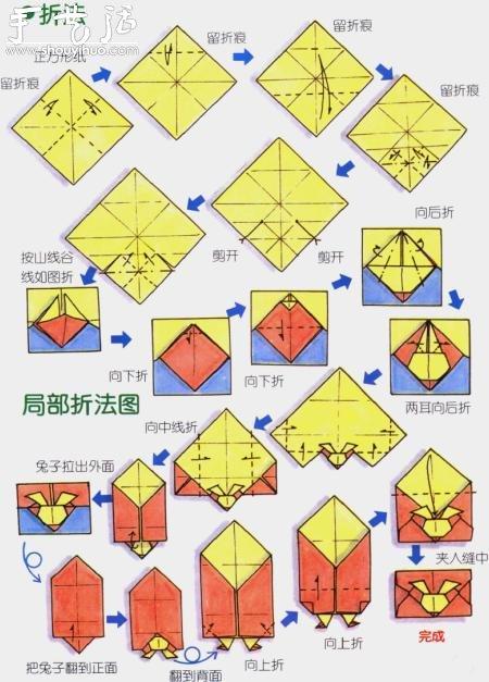 兔子信封摺紙方法
