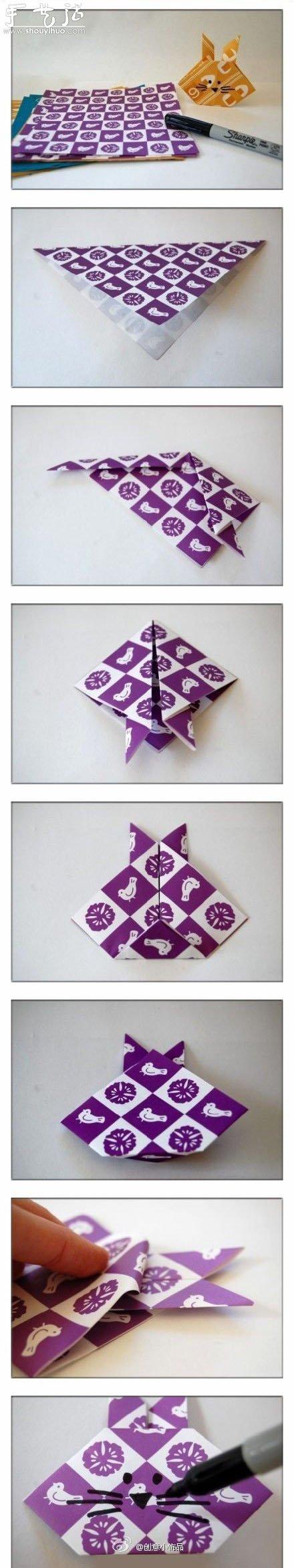 小兔子手工摺紙教學
