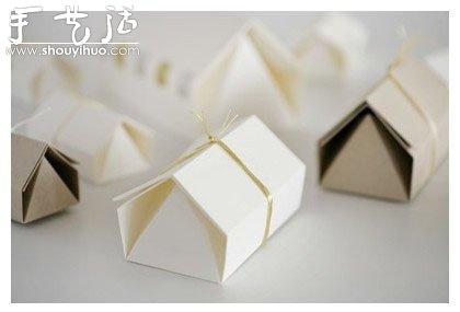 时尚小礼盒包装的折纸教程
