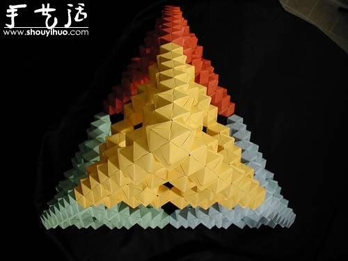 立體幾何模型摺紙作品