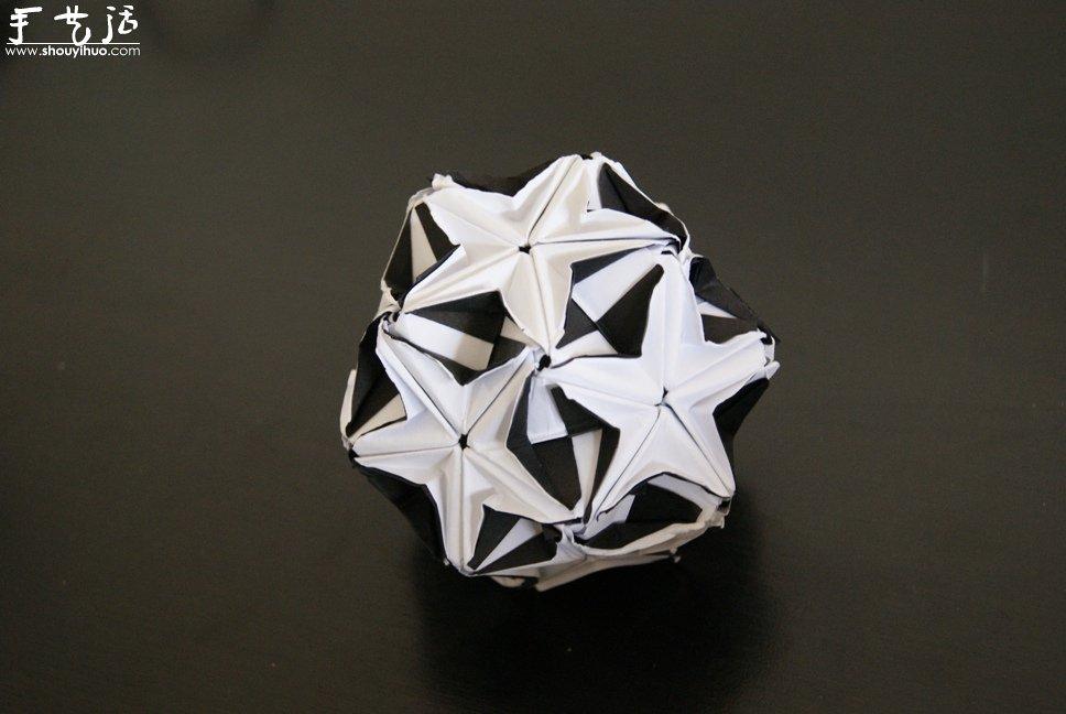 纸色恋曲黑白配折纸作品欣赏(3)