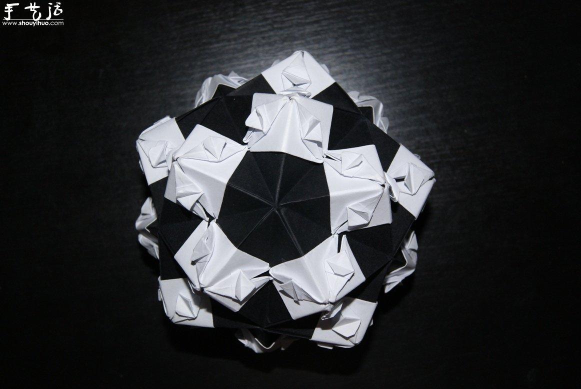 紙色戀曲黑白配摺紙作品欣賞