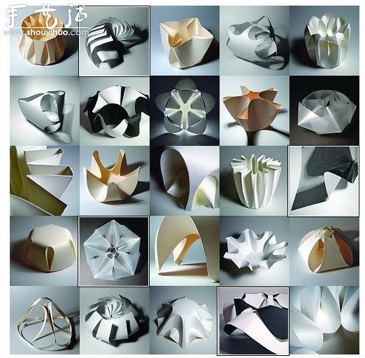 美輪美奐的立體摺紙作品
