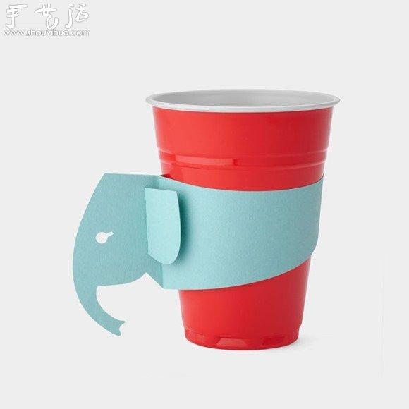 加上可爱的动物杯