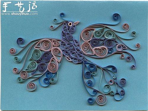 花草蝴蝶漂亮卷纸作品欣赏(3); 品味衍纸带给你的感动-创意折纸-小