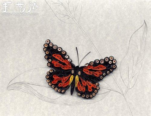 花草蝴蝶漂亮卷纸作品欣赏(3)