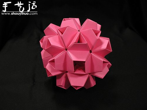 复杂几何立体折纸作品欣赏 - www.shouyihuo.com