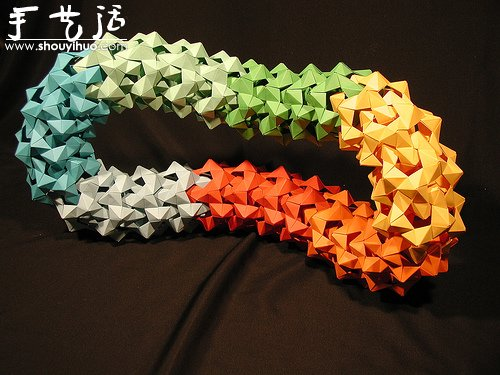 复杂几何立体折纸作品欣赏(5)