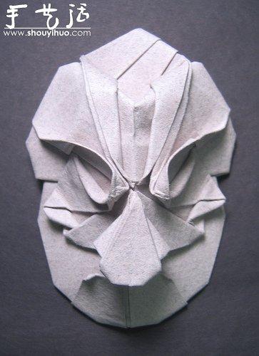 Phillip West的人物臉部造型摺紙