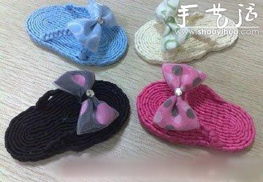 儿童拖鞋的手工制作教程