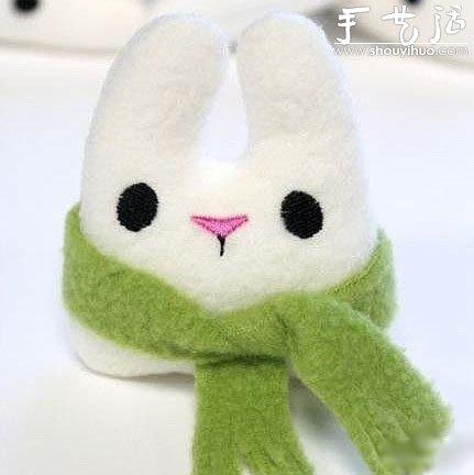 毛绒小兔子的布艺制作教程 -  www.shouyihuo.com