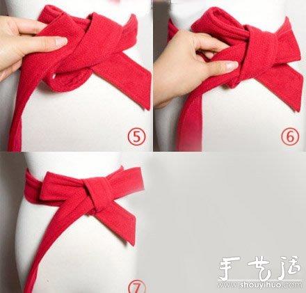 风衣腰带蝴蝶结打法_长款风衣或长衫的蝴蝶结腰带系法_手艺活网