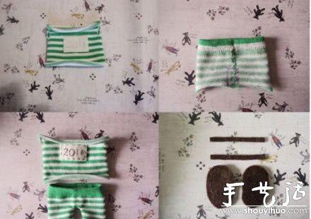 袜子布艺制作可爱兔子的手工教程 -  www.shouyihuo.com