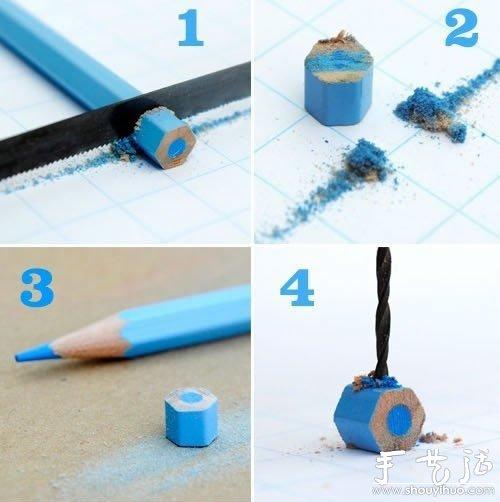 彩色铅笔变废为宝DIY漂亮项链的方法 -  www.shouyihuo.com