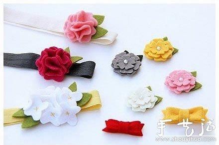 漂亮装饰蝴蝶结的手工布艺制作教程