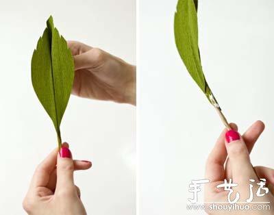 剪纸制作超逼真玫瑰花的教程(2)