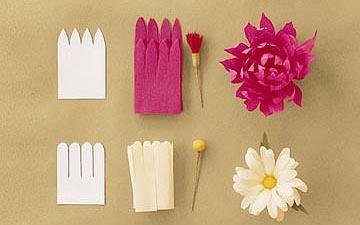 花卉製作的紙藝教學