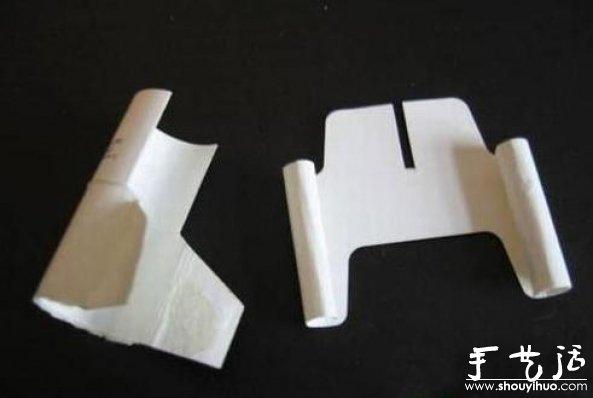 煙盒手工DIY紙模飛機的教程