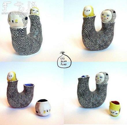 手工制作的一组陶瓷小玩意儿 -  www.shouyihuo.com