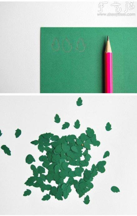 卡纸手工制作清新的立体文字