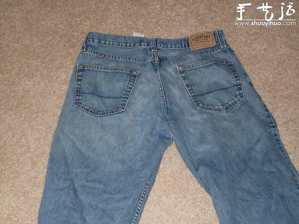 旧牛仔裤废物利用diy围裙的教程