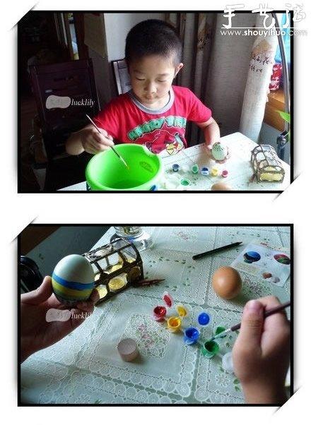 幼儿手工——鸡蛋或鸭蛋绘制艺术彩蛋- www.shouyihuo.net