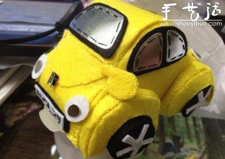手工布艺作品:可爱的甲壳虫汽车(2)