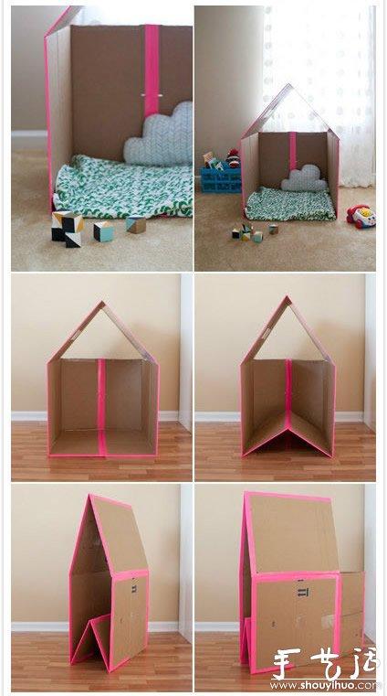 废旧纸箱手工DIY孩子们的玩具世界 4