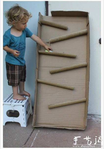 废旧纸箱手工DIY孩子们的玩具世界 7