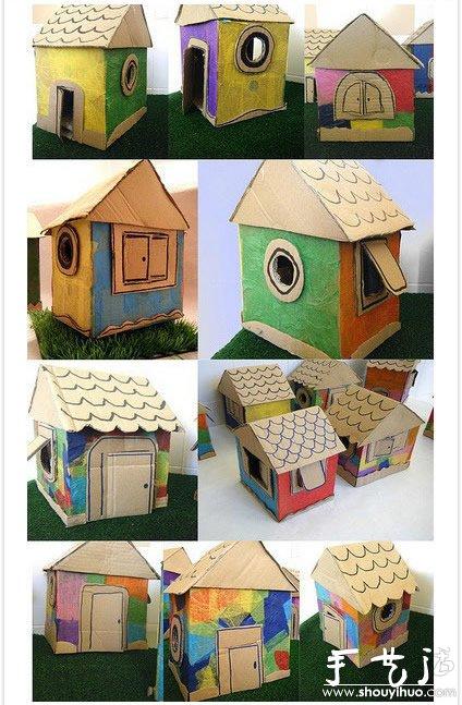 废旧纸箱手工diy孩子们的玩具世界(8)